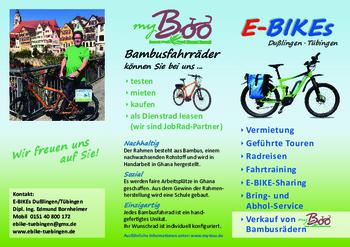 Aktuelle Broschüre von E-BIKEs Tübingen