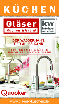 Aktuelle Broschüre von Gläser Küchen & Granit