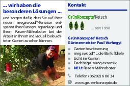 Aktuelle Broschüre von GrünKonzepte' Ketsch Gärtnermeister Paul Várhegyi