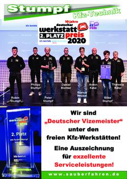 Aktuelle Broschüre von Kfz-Technik Stumpf