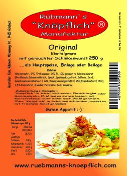 Aktuelle Broschüre von Rübmann's Knöpflich Manufaktur